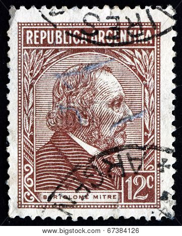Postage Stamp Argentina 1935 Bartolome Mitre, Argentine Statesman