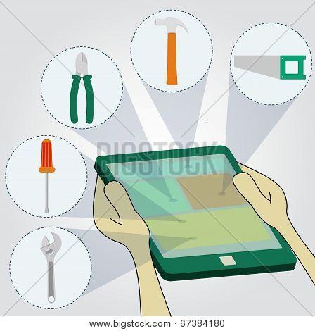 Choosing Tools On Tablet