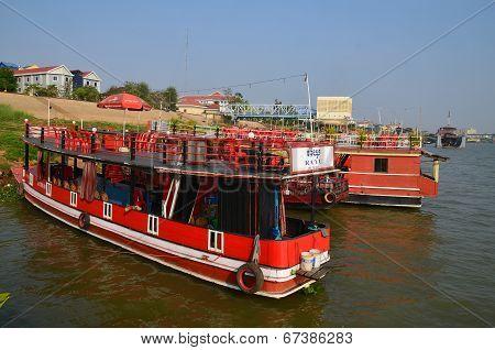 Tourists boats