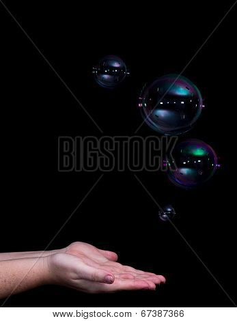 Space Landing Bubbles