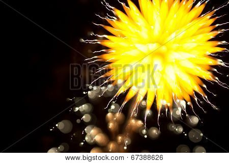 Abstract Fireworks In The Night Sky