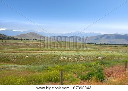 Scenic landscape near Kalispell, Montana