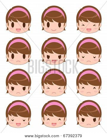 Facial Expression Of The Girl