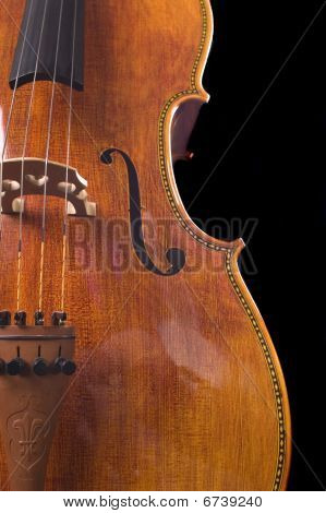 Cello On A Black Background