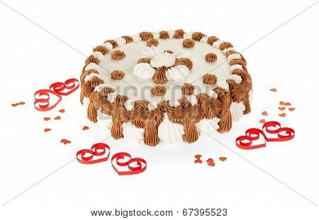 Delightful gateau and hearts from a tape