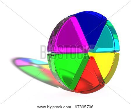 Abstract colored shape