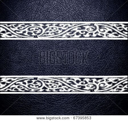 Modern white leather texture background