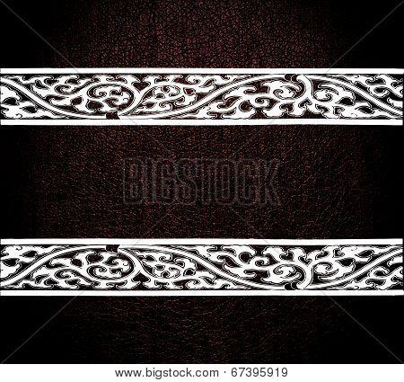 Modern white leather texture