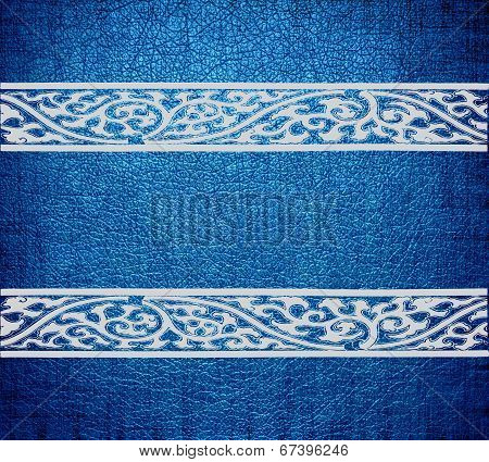 Modern blue leather texture background