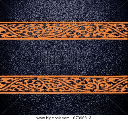 Modern black leather texture background
