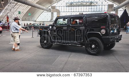 Hummer Car On Display At Rocking The Park Event In Milan, Italy