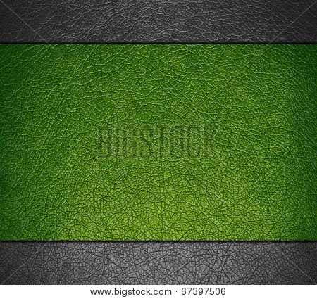 Green and gray leather texture background
