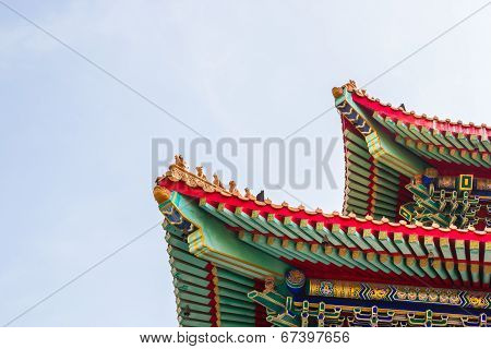 Roof Of Leng Noei Yi 2 Temple