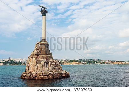 Monument To Scuttled Russian Ships To Obstruct Entrance To Sevastopol Bay