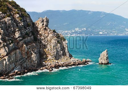 Sail Rock At The Cape Limen Burun. Gaspra, Big Yalta