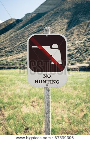 No Hunting Sign On Public Land