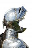 image of arthurian  - Armour of the medieval knight isolated on white background - JPG
