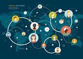 stock photo of social system  - Social Network Vector Concept - JPG