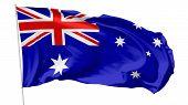 Постер, плакат: Flag Of Australia On Flagpole