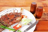 stock photo of stelles  - meat over wood - JPG
