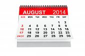 pic of august calendar  - 2014 year calendar - JPG