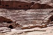 image of petra jordan  - Ancient temple in Petra - JPG