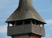 Wooden church tower from Maramures Romania, Eastern Europe poster