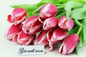 picture of wishing-well  - Get well card with pink tulips - JPG