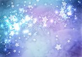 image of xmas star  - Abstract background image of blue stars - JPG