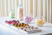stock photo of petition  - A petit four - small confectionery or savoury appetizer