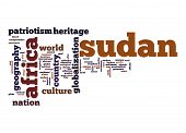 image of sudan  - Sudan word cloud image with hi - JPG