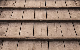 stock photo of uncolored  - Uncolored old wooden floor background photo texture - JPG