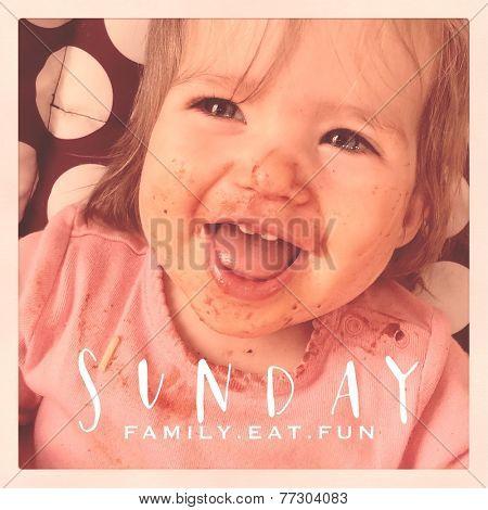 Inspirational Typographic Quote - Sunday