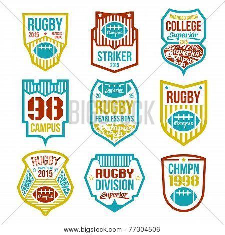 Rugby College Team Emblems
