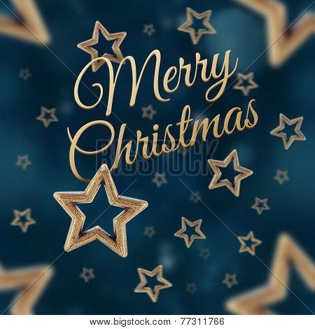 Merry Christmas On The Night Stars Seamless Pattern