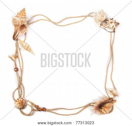 Frame Of Rope Decorated With Seashells