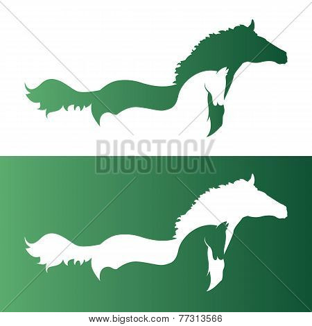 Vector Image Of Two Horsess.