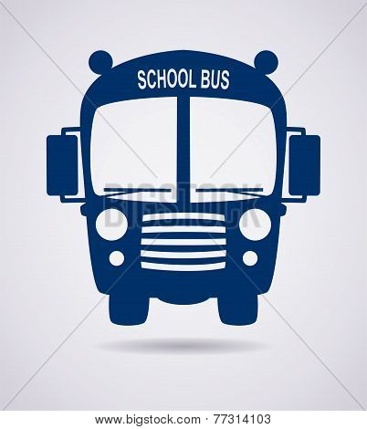 Vector School Bus Icon Or Symbol