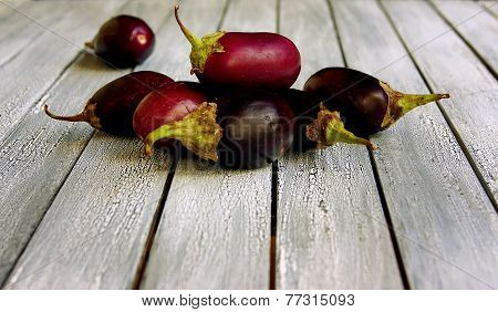 Mini Eggplant On A Plate