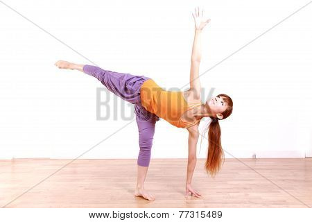 Young Japanese Woman Doing YOGA