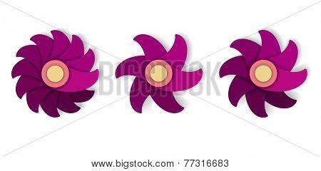 Flower Icon Set, vector eps10 illustration