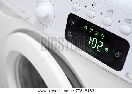 Digital Display On Washing Machine