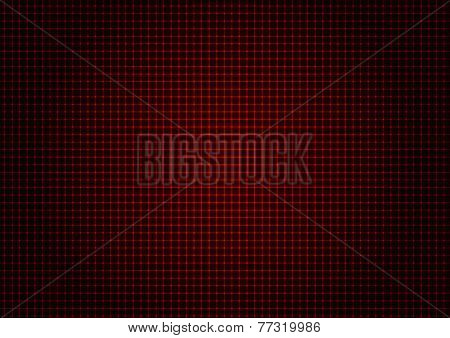 illustration - background of red laser grid