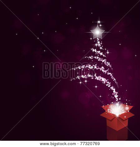 Magical Bokeh Christmas Tree