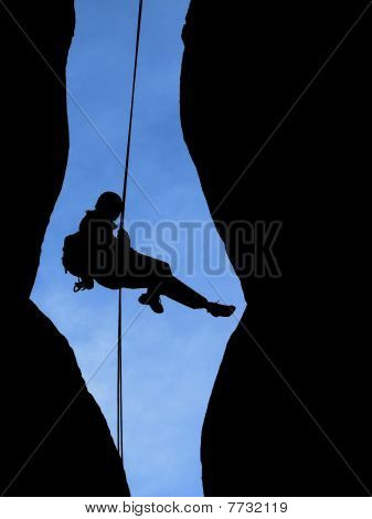 Rappelling Silhouette