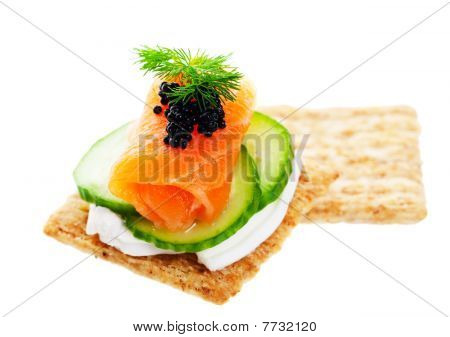Salmon Caviar Canape