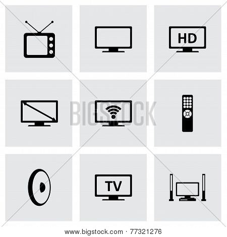 Vector tv icon set
