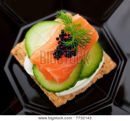 Caviar And Salmon Canape