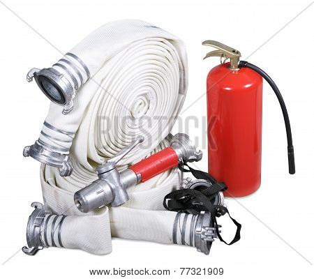 Fire Equipment On A White Background