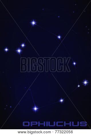 illustration of Ophiuchus constellation